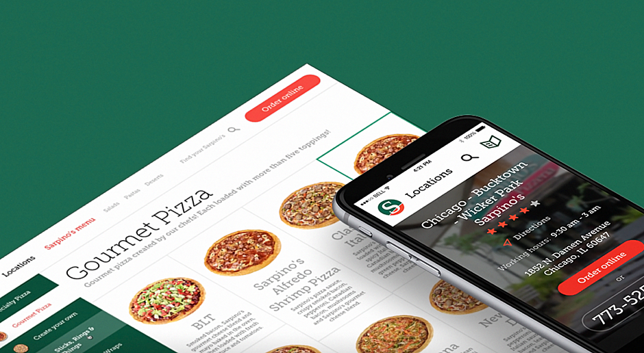 Sarpino's Pizzeria — E-commerce Website