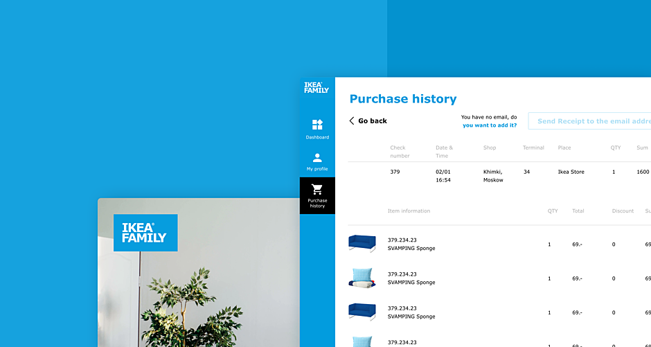 Ikea Family — Kiosk, Web, and Mobile App