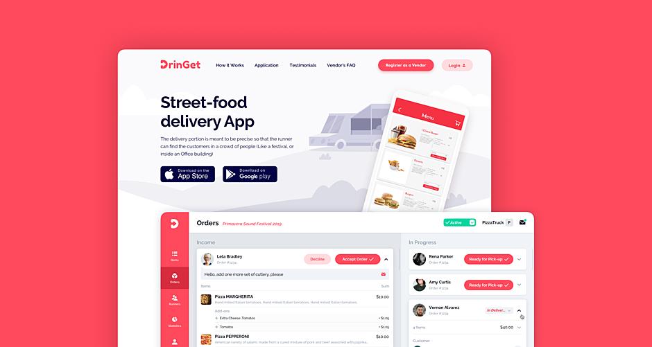 DrinGet – Food Ordering App