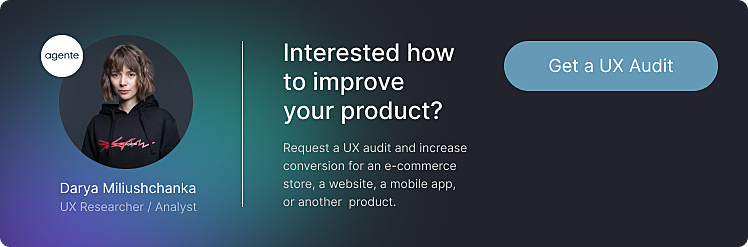 ux audit by agente